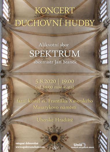 Alikvotní sbor Spektrum - Pozvánka na koncert 5.8.2020