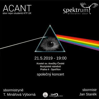 Pozvanka na koncert - Alikvotní sbor Spektrum - 21.5.2019